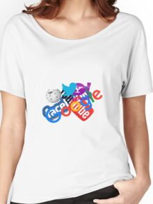 Internet Stuff | Google | YouTube | Yahoo | Wikipedia | Twitter | Facebook | Geek Stuff Women's Relaxed Fit T-Shirt