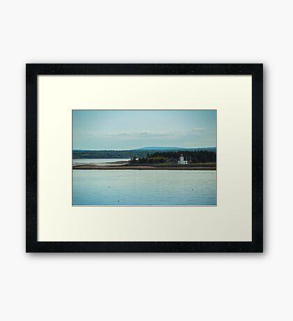 Nova Scotia Lighthouse Oceanscape and Landscape Framed Print