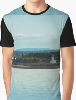 Nova Scotia Lighthouse Oceanscape and Landscape Graphic T-Shirt