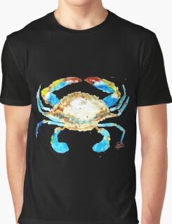 Blue Crab without splats by Jan Marvin Graphic T-Shirt