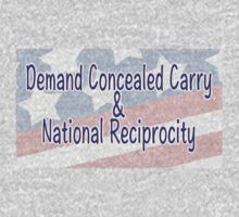 Demand Concealed Carry & National Reciprocity Kids Tee
