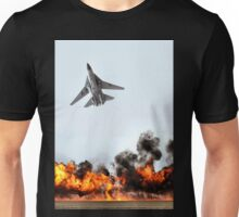 F111 with Fire, Adelaide Air Show  Unisex T-Shirt