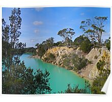Little Blue Lake, Tasmania, Australia Poster