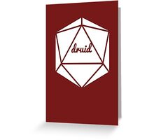 __dungeons and dragons druid Greeting Card