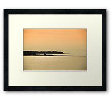 Nova Scotia Shoreline at Sunset Photograph Framed Print