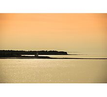 Nova Scotia Shoreline at Sunset Photograph Photographic Print