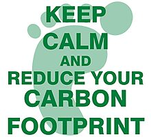 Keep Calm and Reduce Your Carbon Footprint Photographic Print