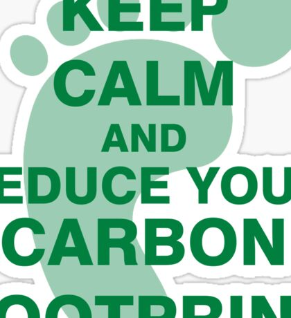 Keep Calm and Reduce Your Carbon Footprint Sticker