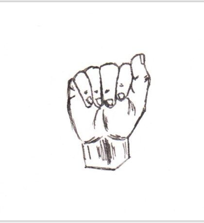 Letter A Hand Shape (ASL) Sticker