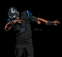 (Black Uniform) Cam Newton Dab  by AkaiTheDesigner
