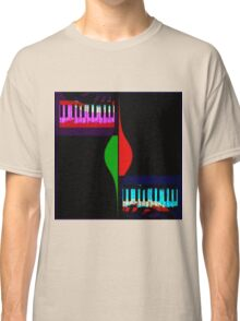 Black abstract piano Classic T-Shirt
