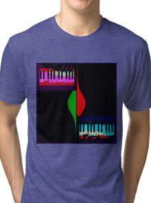 Black abstract piano Tri-blend T-Shirt