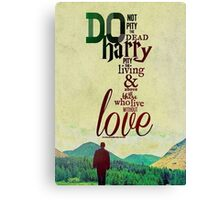 harry potter quotes Canvas Print