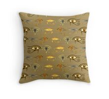 """Eyes of Horus""© Throw Pillow"