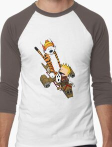 Captain Calvin Hobbes Men's Baseball ¾ T-Shirt