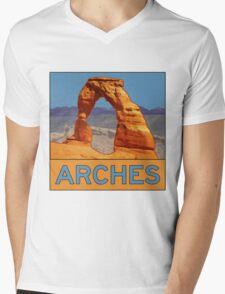 Arches National Park - Delicate Arch - Moab Utah Mens V-Neck T-Shirt