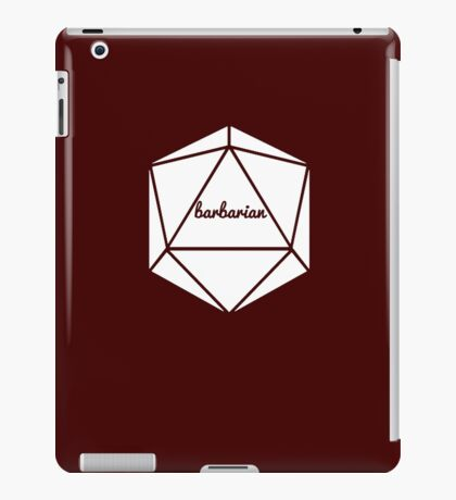 __dungeons and dragons barbarian iPad Case/Skin
