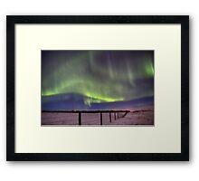 The Green Curtain Framed Print