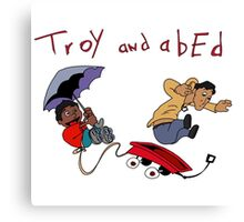 Troy and Abed Canvas Print