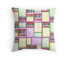 Abstract pastel piano Throw Pillow