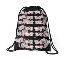 Butterfly Love Drawstring Bag