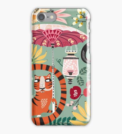 Tiger garden iPhone Case/Skin