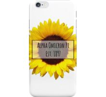 Alpha Omicron Pi Sunflower iPhone Case/Skin