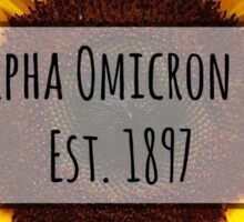 Alpha Omicron Pi Sunflower Sticker