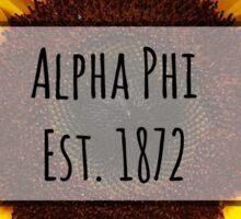 Alpha Phi Sunflower Sticker