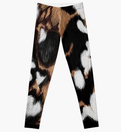 African Wild Dog Camo Leggings