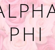 A Phi Roses Sticker