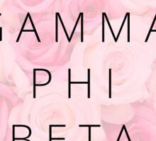Gamma Phi Roses Sticker
