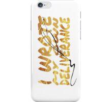 Hamilton - Hurricane Lyrics iPhone Case/Skin