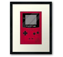 Gameboy Color - Red Framed Print