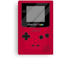 Gameboy Color - Red Canvas Print