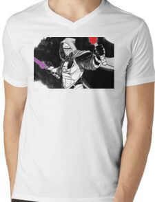 Darth Revan Bordered Mens V-Neck T-Shirt