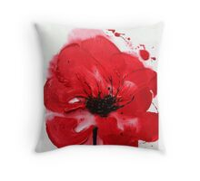 ANZAC Day Poppy Throw Pillow