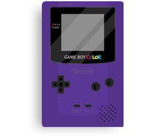 Gameboy Color - Purple Canvas Print