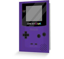 Gameboy Color - Purple Greeting Card