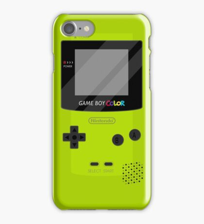 Gameboy Color - Green iPhone Case/Skin
