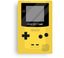 Gameboy Color - Yellow Canvas Print