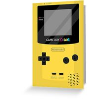 Gameboy Color - Yellow Greeting Card