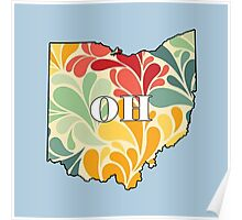 Floral Ohio Poster