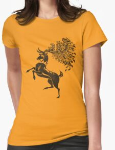 Pokemon / Game of Thrones: Sawsbuck / Baratheon Womens Fitted T-Shirt