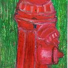 Fire Engine Red Fire Hydrant by RobynLee