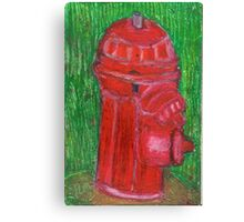 Fire Engine Red Fire Hydrant Canvas Print
