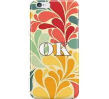 Floral Oklahoma iPhone Case/Skin