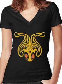 Pokemon / Game of Thrones: Tentacruel / Greyjoy Women's Fitted V-Neck T-Shirt