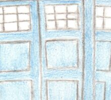 TARDIS Pencil drawing Sticker