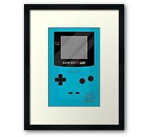 Gameboy Color - Teal Framed Print
